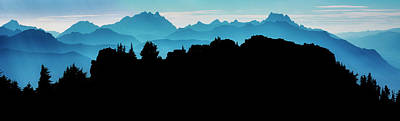 Mountain Royalty-Free and Rights-Managed Images - Mountain Ridge Silhouette by Pelo Blanco Photo