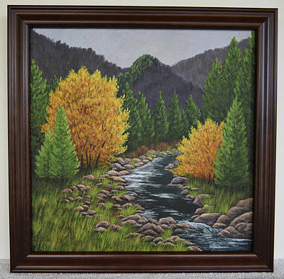 Painting - Mountain Stream by Gloria Johnson