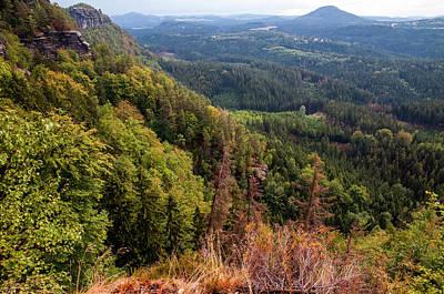 Photograph - Mountain Scenery Of Bohemian Switzerland 1 by Jenny Rainbow