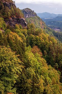 Photograph - Mountain Scenery Of Bohemian Switzerland 2 by Jenny Rainbow
