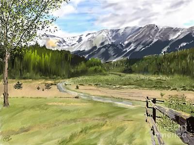Digital Art - Mountain Shadow by Joel Deutsch
