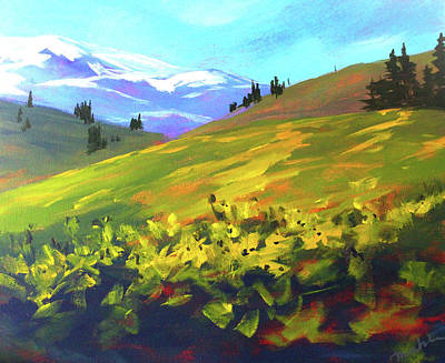 Painting - Mountain Spring by Nancy Merkle