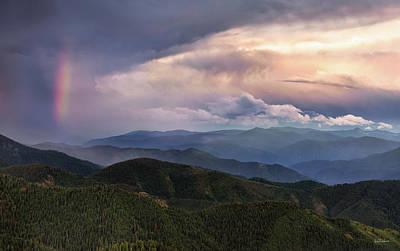 Photograph - Mountain Storm And Rainbow by Leland D Howard
