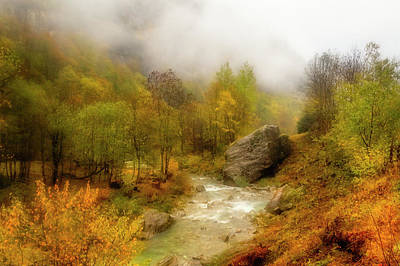 Photograph - Mountain Stream Among Fall Colors by Roberto Pagani