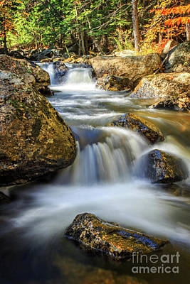 Photograph - Mountain Stream Waterfall  by Edward Fielding