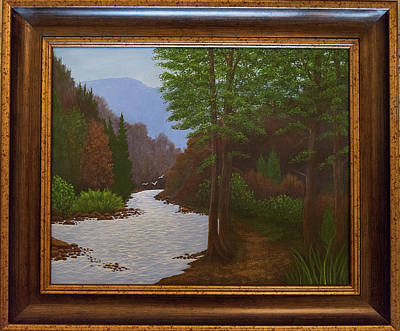 Painting - Mountain Stream With Birds by Gloria Johnson