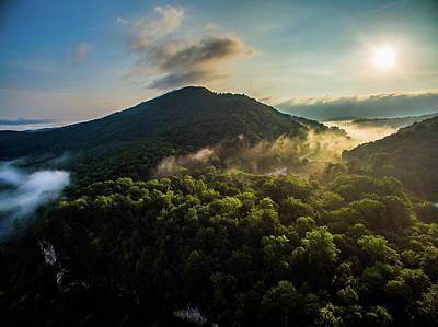 Photograph - Mountain Sunrise by Mid Atlantic Aerial