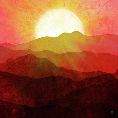 Digital Art - Mountain Sunset by Gary Grayson
