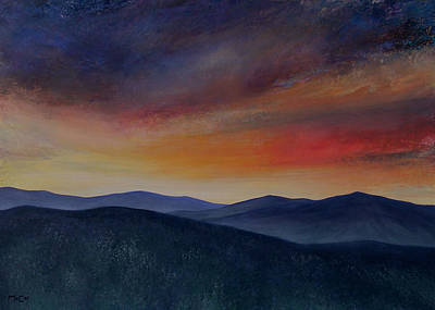 Painting - Mountain Sunset by K McCoy