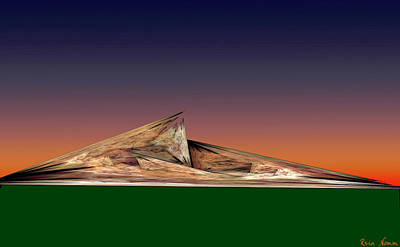 Digital Art - Mountain Twilight by Rein Nomm
