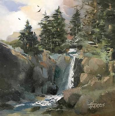 Painting - Mountain Waters by Helen Harris