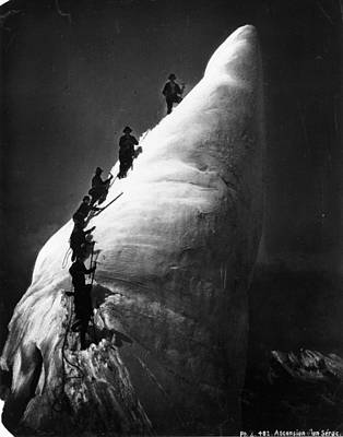 Photograph - Mountaineers by Hulton Archive