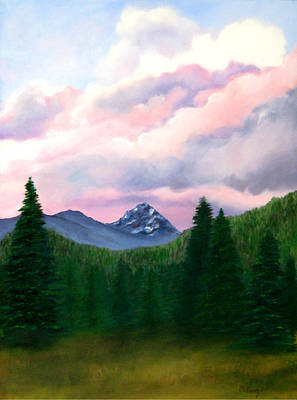 Painting - Mountain and Sky by Melissa Joyfully