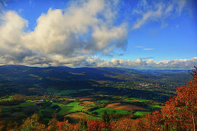 Photograph - Mountains And Looking Towards Williamstown From Mount Greylock by Raymond Salani III