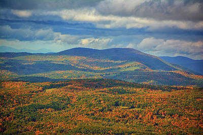 Photograph - Mountains From Mount Greylock 2 by Raymond Salani III