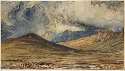 Drawing - Mountains Of Auvergne by Paul Huet