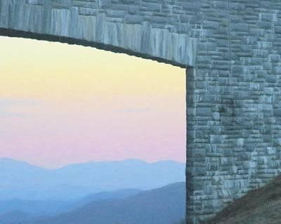 Kids Alphabet - Mountains Through The Parkway Bridge 7 by Cathy Lindsey