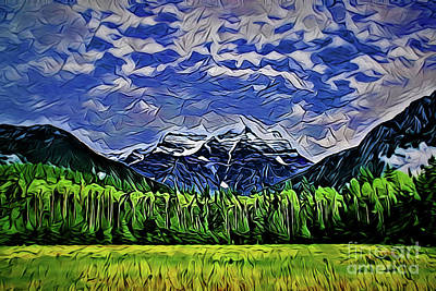 Painting - Mountainscape A18-24 by Ray Shrewsberry