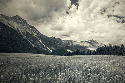 Photograph - Mountainscape With Flowery Meadow by Roberto Pagani