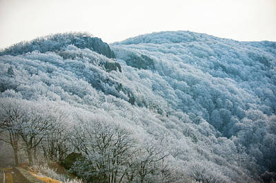 Photograph - Mountainside Hoarfrost by Mark Duehmig