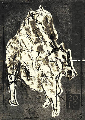 Relief - Mounting Horse 1 by Artist Dot