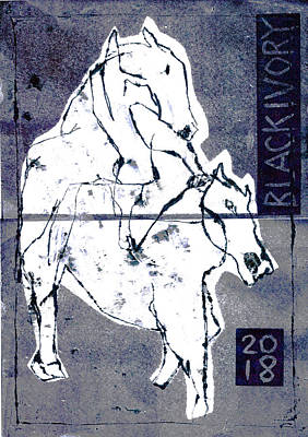 Relief - Mounting Horse 4 by Artist Dot