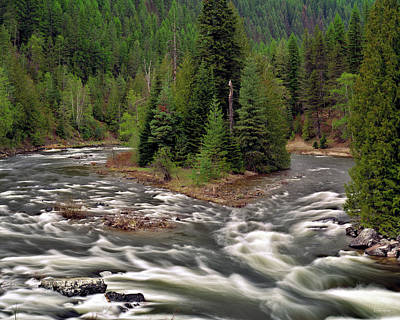 Photograph - Moyie River by Leland D Howard