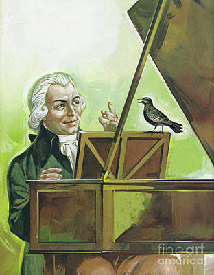 Painting - Mozart And The Starling by Angus McBride
