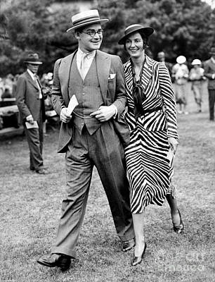 Photograph - Mr. And Mrs John Hay Whitney by New York Daily News Archive