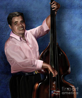 Painting - Mr Irving The Bassist 1b by Reggie Duffie