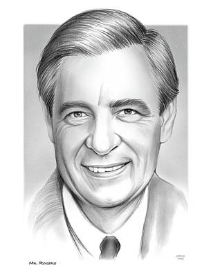 Musicians Drawings Rights Managed Images - Mr Rogers Royalty-Free Image by Greg Joens