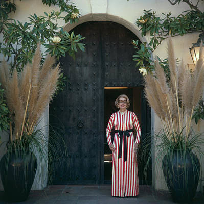 Mrs James Hoover Art Print by Slim Aarons