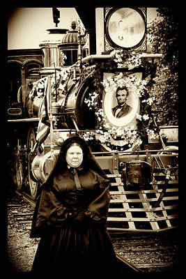 Photograph - Mrs Lincoln With Funeral Train by Paul W Faust - Impressions of Light