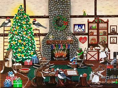 Painting - Ms. Elizabeth's Holiday Home by Jennifer Lake