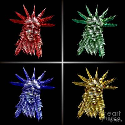 Digital Art - The Colors Of Liberty by Walter Oliver Neal