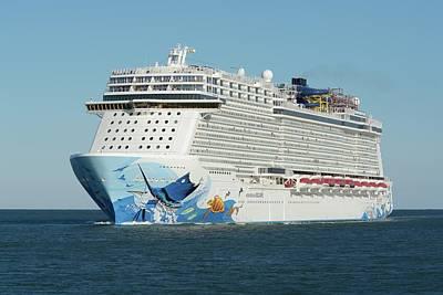 Photograph - Ms Norwegian Escape On Blue Ocean by Bradford Martin
