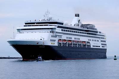 Photograph - Ms Veendam Arrives At Port by Bradford Martin