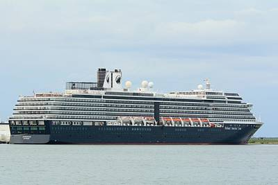 Photograph - Ms Zuiderdam At Port Canaveral by Bradford Martin