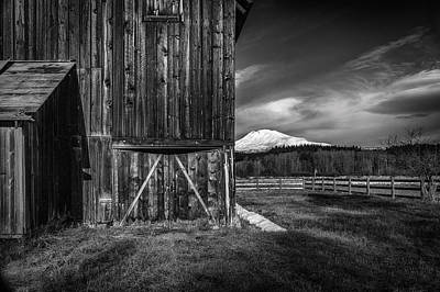 Photograph - Mt. Adams Barn by Cat Connor