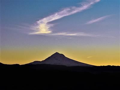 Photograph - Mt. Hood Sunrise At Jonsrud View by Michael Oceanofwisdom Bidwell