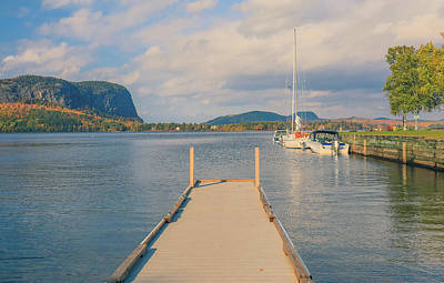 Photograph - Mt Kineo Dock On Moosehead Lake by Dan Sproul