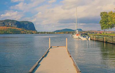 Photograph - Mt Kineo Dock On Moosehead Lake by Dan Sproul