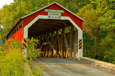 Photograph - Mt. Pleasant Covered Bridge In Perry County by Adam Jewell