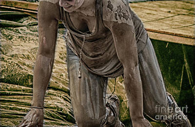Mud Crawl  Art Print by Steven Digman