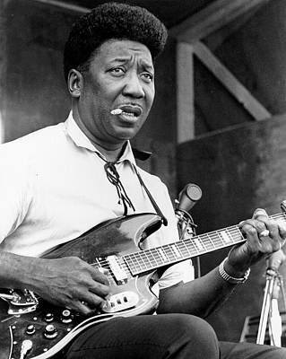 Blue Photograph - Muddy Waters Live At The Ann Arbor by Tom Copi