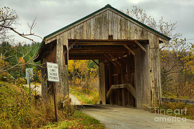 Photograph - Mudgett Covered Bridge by Adam Jewell