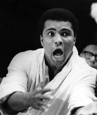 Photograph - Muhammad Ali At Weigh-in by Fred W. Mcdarrah