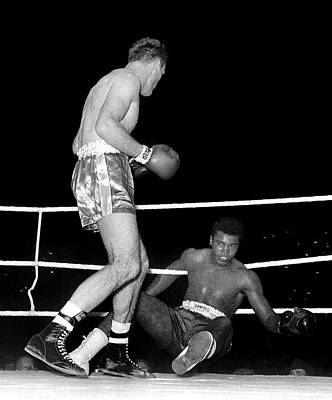 Photograph - Muhammad Ali Hitting The Ropes Vs. Henry Cooper  by Doc Braham