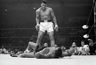Sports Photograph - Muhammad Ali Taunting Sonny Liston by Bettmann