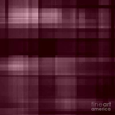 Digital Art - Mulberry Plaid by Rachel Hannah